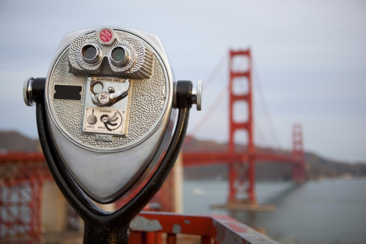 Viewer Looking At Golden Gate Bridge By San Francisco Personal Injury Attorney